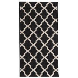 dywan cottage black/ wool 67x130cm, 67 × 130 cm marki Dekoria