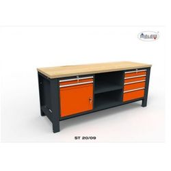 """Stół do warsztatu st20/09 """"trójka"""" 6 szuflad zamykanych na klucz marki Malow"""