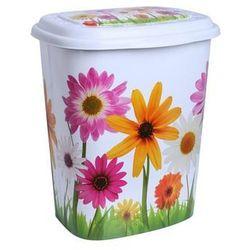 Kosz na pranie dekorowany Kwiaty 45l