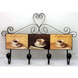 Wieszak metalowy mdf kawa marki Atrix