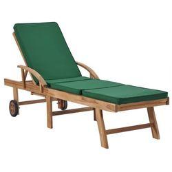 Zielony leżak ogrodowy - Santori, vidaxl_48024