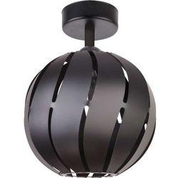 Plafon LAMPA sufitowa GLOBUS SKOS 31313 Sigma metalowa OPRAWA ażurowa z wycięciami kula ball czarna