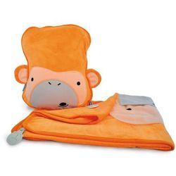 Trunki - walizeczki i akcesoria Kocyk i poduszeczka trunki snoozihedz małpka mylo