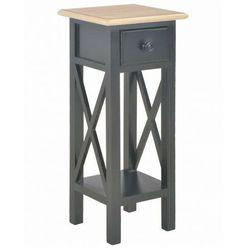 Czarny stolik boczny do salonu - kroton marki Elior