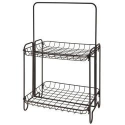 Metalowy stojak, regał na przybory - 2 poziomy, czarny