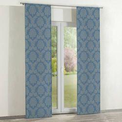 Dekoria zasłony panelowe 2 szt., niebieski, 60 × 260 cm, damasco