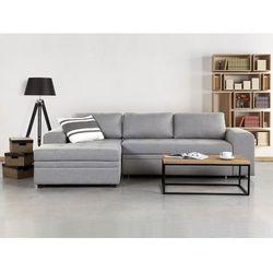 Sofa jasnoszara - sofa narożna - sofa rozkładana - sofa tapicerowana - kiruna, marki Beliani