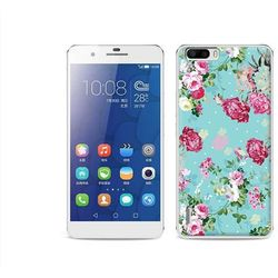 Fantastic case - huawei honor 6 plus - etui na telefon fantastic case - różyczki na miętowym tle od produce