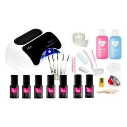 My no1 Zestaw do manicure hybrydowego z lampą ccfl uv led professional 48w + 114 gratisów