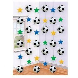 Amscan Dekoracja wisząca - piłka nożna - 2,1 m - 6 szt.