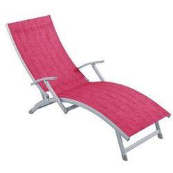 Łóżko plażowe Soleil 4-pozycyjny fuksja PATIO (5904134481061)