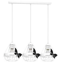 Milagro Kago MLP4923 lampa wisząca dziecięca 3x60W E27 biały mat / czarny mat (5902693749233)