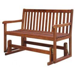 Drewniana ławka ogrodowa z huśtawką leos - brązowa marki Producent: elior