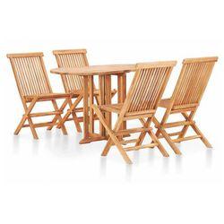 Zestaw drewnianych mebli ogrodowych - trivo 3x marki Elior