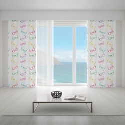 Zasłona okienna na wymiar - LUNETTES COLORES COLORFUL GLASSES