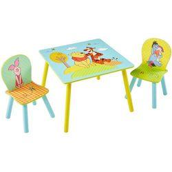 Disney zestaw mebli kubiś puchatek, stół, 2 krzesła, worl104004