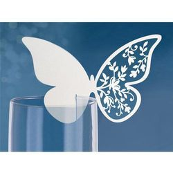 Wizytówki na kieliszki Motyl, 12,5 x 7,6cm, 1op.