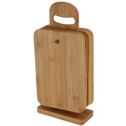 6 bambusowych desek kuchennych + stojak w komplecie marki Eh excellent houseware