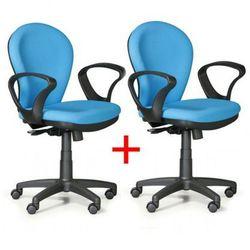 Krzesło biurowe lea 1+1 gratis, jasnoniebieski marki B2b partner