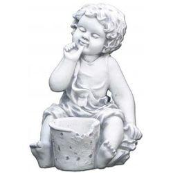 Figura ogrodowa betonowa dziecko z doniczką 40cm