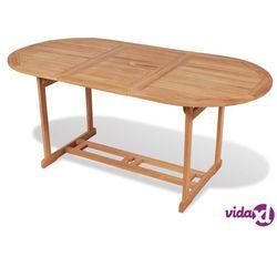 Vidaxl stół ogrodowy, 180 x 90 75 cm, drewno teakowe (8718475559047)