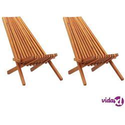 Vidaxl składane krzesła ogrodowe, 2 szt., lite drewno akacjowe (8719883719214)