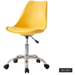 Selsey fotel biurowy djum ii żółty