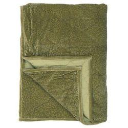 Ib Laursen - Narzuta aksamitna na łóżko w kolorze zielonym z nadrukiem