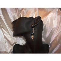 K-00043 Kolczyki ze szmaragdowymi perłami