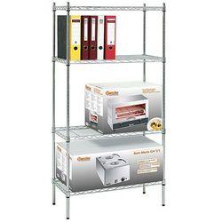 Bartscher Regał biurowy chromowany 750x350x1520 mm | , 601151
