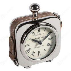 Zegar stojący GABINET C5008119 Belldeco kwadratowy srebrny