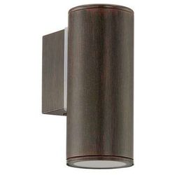 Zewnętrzna lampa ścienna riga 94104  metalowa oprawa halogenowa do ogrodu ip44 outdoor tuba antyczny brąz wyprodukowany przez Eglo