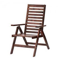 APPLARO Krzesło z regulowanym oparciem, ogr, brązowy składany brązowa bejca brązowy