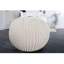 Interior space:: puf knitted ball - biały?50cm - biały