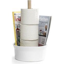 Stojak na papier toaletowy biały marki Born in sweden