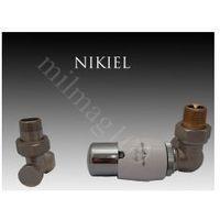 Zestaw zaworów grzejnikowych termostatycznych MASTER prawy NIKIEL