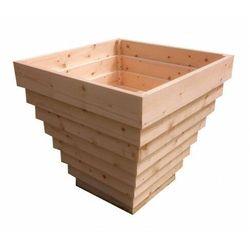 Elior Kwadratowa drewniana wysoka donica ogrodowa - tulia