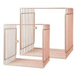 Zestaw metalowych półek (duża i mała) - różowe marki Done by deer