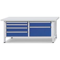 Stół warsztatowy z szufladami XL/XXL, szer. 2000 mm, 6 szuflad, blat uniwersalny