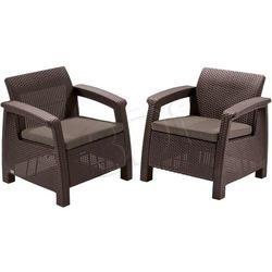 Allibert Fotele curver corfu duo set 2szt brązowy-szaro-beżowy (3253929122088)
