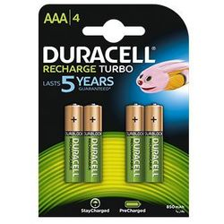 4 x akumulatorki  stays charged duralock r03 aaa 850 mah (blister) od producenta Duracell