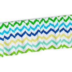Mamo-tato falbanka do łóżeczka zygzak niebiesko-zielony