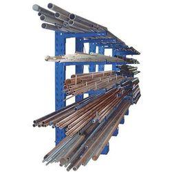 Eurokraft Regał wspornikowy, konstrukcja ciężka, wys. stojaka 2500 mm, regał dodatkowy, je