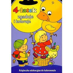 4 latek zgaduje i koloruje (ISBN 9788374372343)