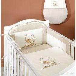 MAMO-TATO pościel 3-el Tulisie w brązie do łóżeczka 60x120cm z kategorii komplety pościeli dla dzieci