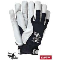 Rękawice robocze wzmacniane skórą licową RLEVEREST