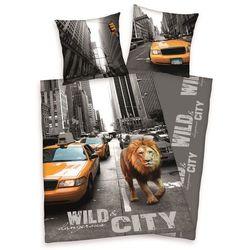 Dekoria Komplet pościeli Wild City, poszwa 140x200cm, poszewka 70x90cm - produkt z kategorii- Komplety pościeli dla dzieci