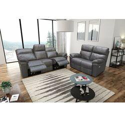 Interform Valetta - sofa 3 relax elektryczna + sofa 2 - beżowy