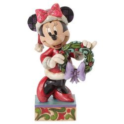 Jim shore Myszka minnie mouse season's greetings (minnie mouse) 4039034 figurka ozdoba świąteczna (0045544650090)