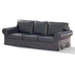 Dekoria Pokrowiec na sofę Ektorp 3-osobową, nierozkładaną, granatowa czerń (eko-skóra), Sofa Ektorp 3-osobowa, Eco-leather